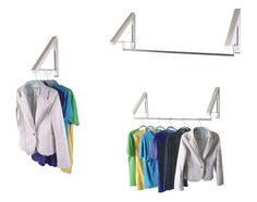 Image Result For Wall Mounted Folding Garment Rack