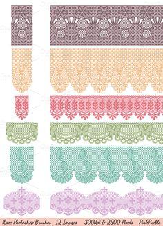 Brushes ~ Lace Photoshop Brushes by PinkPueblo ~ Creative Market