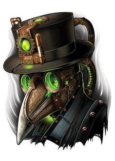 Bird Mask - Steampunk Temporary Tattoo #TattooIdeasHombre