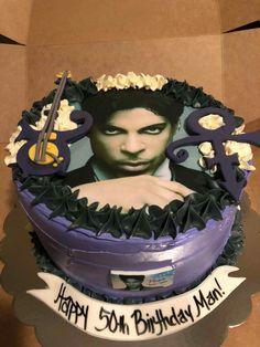 Moms 50th Birthday, Birthday Cakes For Women, Rain Cake, Prince Birthday Theme, Starfish And Coffee, Prince Cake, Prince Purple Rain, Purple Party, Fancy Cakes