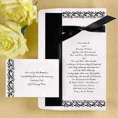 Black And White Wedding Invitations On Pinterest Invitations Invitation Ca