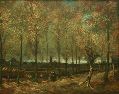 Vincent van Gogh (Dutch, 1853-1890). Avenue of Poplars near Neunen, 1885. Oil on canvas, 30.7 × 38.4 in.
