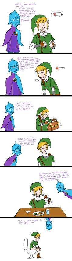 The Legend of Zelda comic. This is terrible, but I feel it's too true.