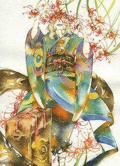 "From Japanese Animation ""Mononoke"" Watercolor Illustration. Original size is here : [link] Mononoke: Poison picking Manga Art, Manga Anime, Mononoke Anime, Horror Tale, Wolf Children, Anime Kimono, Anime Art Fantasy, Ghibli Movies, Japan Art"