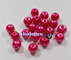 perlas cristal lacado fucsia 8mm