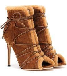 e013524acf2a Aspen suede peep-toe ankle boots