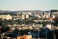 Windhoek-Skyline Hauptstadt von Namibia