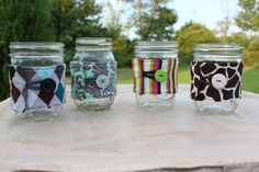 Mason Jar Cozy / Fabric Mason Jar Sleeve - Ball Jar Cozies by CK Stitches - Pint or Quart Jar Coozie - Design Your Own - You Pick the Fabric...