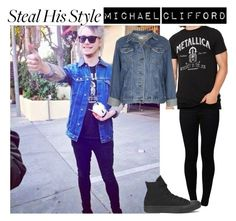 Steal his style: Michael Clifford by loseriwrin ❤ liked on Polyvore featuring Noisy May, Topshop, Converse, womens clothing, women, female, woman, misses and juniors