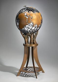 Johnson Controls Globe - Artist Chris Andrews