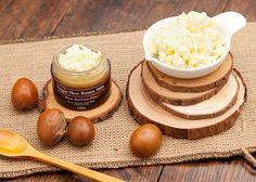 Using Shea Butter And Cocoa Butter As Coconut Butter Substitutes For Homemade Remedies Unrefined Shea Butter, Shea Butter Soap, Cocoa Butter, Nut Butter, Anti Aging, Beard Balm, Homemade Skin Care, Oils For Skin, Vitamins