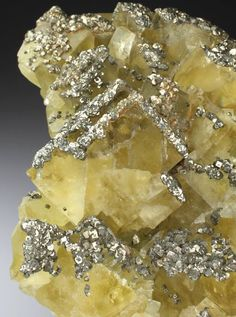yellow fluorite with Pyrite frost :)