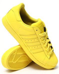 pharrell williams x adidas originals superstar: gelbe turnschuhe