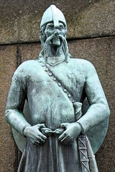 Viking Statue in Bergen Norway