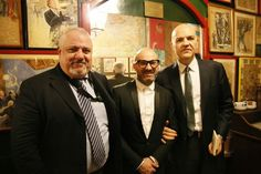 Marco Eugenio Di Giandomenico,  Gianluca Guzzo,  Corrado Parigi al Premio Bagutta 2015 (Ristorante Bagutta, Milano, 25 gennaio 2015)