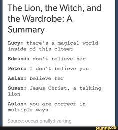 lol I loved the Aslan and Susan bit 😂😂✝️