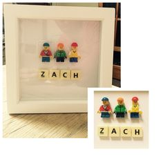 Personalised Lego picture gift. Shadow box frames for displaying special items or keepsakes...