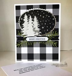 Stampin' Up - 2017 Holiday Catalog - Carols of Christmas - Pretty Pines - Teeny Tiny Wishes - Merry Little Christmas DSP - Christmas Cards 2017, Homemade Christmas Cards, Xmas Cards, Homemade Cards, Holiday Cards, Carols Of Christmas Stampin Up Cards, Merry Little Christmas, Noel Christmas, Christmas Paper