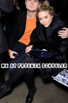 Mary-Kate Olsen at a Proenza Schouler show. #style #fashion #olsentwins