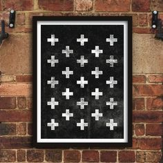 Scandinavian Swiss Cross http://www.notonthehighstreet.com/themotivatedtype/product/scandinavian-swiss-cross-black-and-white-art-print Limited edition art print, order now!