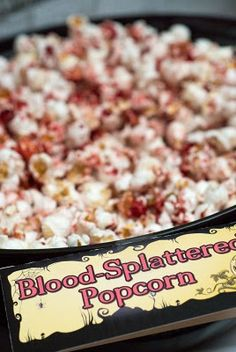 Bloody Popcorn for your horror movie marathons. Oh yes. Or Halloween?