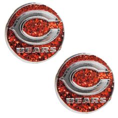 Show your love for your favorite team with these Chicago Bears logo stud earrings. Crafted of high polish stainless steel, these earrings are an officially licensed NFL product.