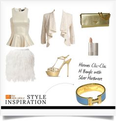 """"""":: Style Inspiration -Hermes Clic-Clac H Bangle with Silver Hardware ::"""" by the-attic-place on Polyvore"""