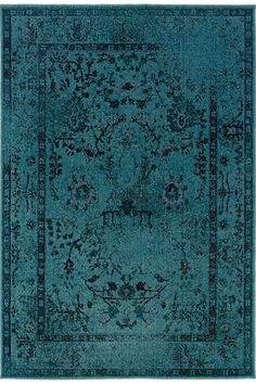 "Home Decorator's Euphoria Area Rug - 6'7""X9'6"", Blue = $299 - via Copy Cat Chic"