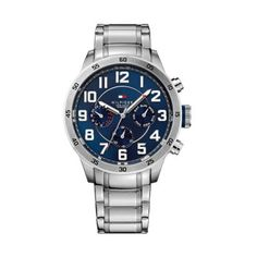 Tommy Hilfiger - Men\'s Trent Stainless Steel Blue Dial Watch - 1791053 - Online Price: £145.00