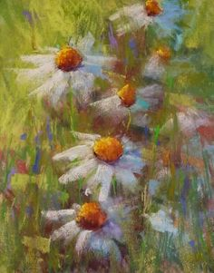 Timeless Tips for Painting Daisies, painting by artist Karen Margulis