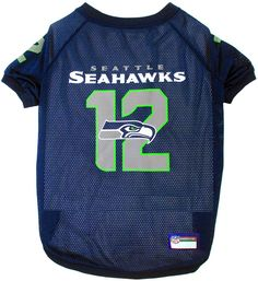 Seattle Seahawks NFL Pet Jersey - 12th Man | Hot Dog Collars