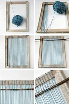The best DIY projects & DIY ideas and tutorials: sewing, paper craft, DIY. Diy Crafts Ideas Things I've Made From Things I've Pinned: Diy Woven Wall Hanging. Yarn Crafts, Diy And Crafts, Arts And Crafts, Tapestry Weaving, Loom Weaving, Rug Loom, Hand Weaving, Weaving Projects, Craft Projects
