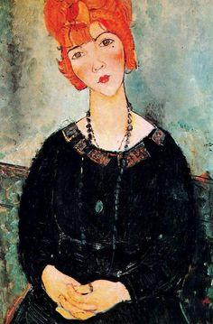 Modigliani, Woman With a Necklace- Donna con collana (1917)