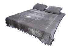 Yellow Comforter, Gray Bedding, Grey Throw Blanket, Gray Ombre, Velvet Quilt, Grey Quilt, Twin Quilt, Queen Quilt, Bed Spreads