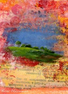 Kim Neumann --- I would like to create a similar look in my hiking art journal.