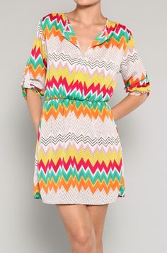 3.20.13 OFFER. COLORFUL PRINTED DRESS. $38