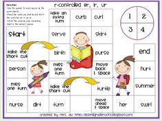 Kids Rock!: Scarcity Game Board... Free! R-Controlled Words