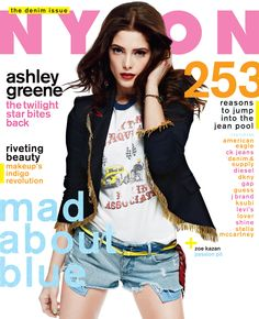 Ashley Greene, August 2012 Must own this jacket. Important.