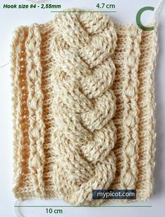 Crochet Stitches Cable : about Crochet Cable on Pinterest Crochet Cable Stitch, Crocheting ...