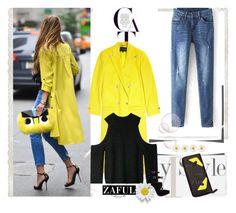 """zaful 34"" by bellamonica ❤ liked on Polyvore featuring moda, Versace e polyvoreeditorial"