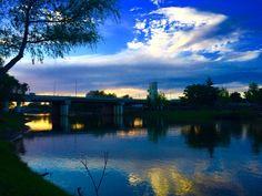 Tarde azul en parque las riberas culiacan