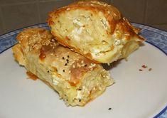 Τυρόπιτα με φύλλο κρούστας σαν ζυμάρι Cauliflower, Bread, Cheese, Chicken, Vegetables, Food, Tarts, Kitchen, Gastronomia