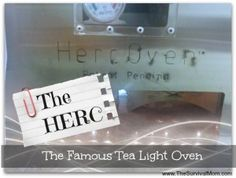 The HERC: The Famous Tea Light Oven   The Survival Mom   #prepbloggers #cooking