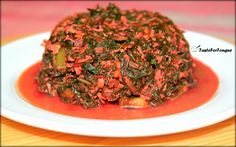 Harive Soppu Palya/Red Amaranth Leaves Stir Fry