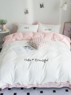 To find out about the Solid Letter & Tassel Sheet Set at SHEIN, part of our latest Bedding Sets ready to shop online today! Bedroom Comforter Sets, Best Bedding Sets, Luxury Bedding Sets, King Comforter, Dream Rooms, Dream Bedroom, Master Bedroom, Beautiful Bedding Sets, Cute Room Decor