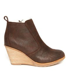 Love this Chocolate Rosewood Wedge Ankle Boot - Women on #zulily! #zulilyfinds