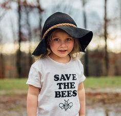 7e0ccebf1 Save the Bees Kids Shirt, Save the Bee, Bee Shirt, Endangered Species  Clothing, Toddler Shirts, Hipp