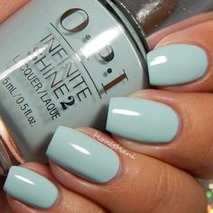 OPI Infinite Pearl of Wisdom, Go to Grayt Lenghts, Eternally Turquoise, Non-Stop White Hot Nails, Hair And Nails, August Nails, Opi Nail Colors, Oval Nails, Manicure And Pedicure, Natural Nails, How To Do Nails, Pretty Nails