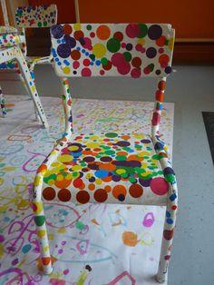 Salle à manger façon Kusama chez Cécile Kids Art Class, Art Lessons For Kids, Projects For Kids, Art For Kids, Art Projects, Yayoi Kusama, Primary School Art, Elementary Art, Elements Of Art Color