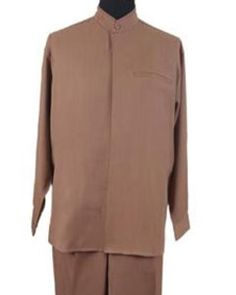 Online Mens SuitsProduct# Mandarin/ Banded Collar trendy casual Shirt Set /Walking Suit Tan khaki Color , Zoot, Wedding Suits for every occassion Mens White Suit, Mens Black Dress, Burgundy Dress Outfit, Black Dress Outfits, Formal Shirts, Casual Shirts, Mandarin Collar Shirt, Dashiki Shirt, Indian Wedding Outfits